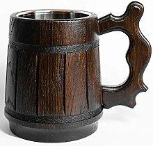 Handgefertigter Bierkrug aus Holz – 590 ml D&D