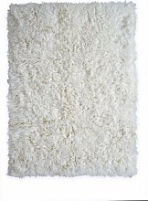 Handgefertigter Flokati-Teppich Sonia aus Wolle in