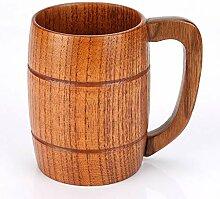 Handgefertigter Holz-Bierbecher, klassischer