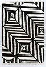Handgefertigter Kelim-Teppich Vintage Crisscross