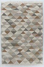 Handgefertigter Kelim-Teppich Vintage Triangle aus