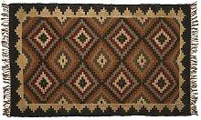 Handgefertigter Teppich Adonis in Braun
