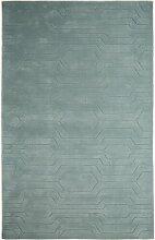 Handgefertigter Teppich Ciara in Mintgrün Hykkon