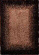 Handgefertigter Teppich Hula in Braun