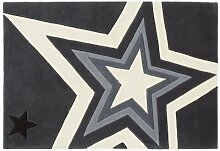 Handgefertigter Teppich in Grau Rock Star Baby
