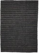 Handgefertigter Teppich in Schwarz