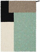 Handgefertigter Teppich Juba in Mintgrün Corrigan