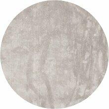 Handgefertigter Teppich Kirby in Silber Canora Grey