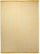 Handgefertigter Teppich Loom in Gelb