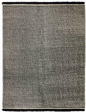 Handgefertigter Teppich Loom in Schwarz