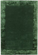 Handgefertigter Teppich Mcdonald in Grün Canora