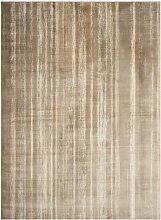 Handgefertigter Teppich Rincon in Braun Williston
