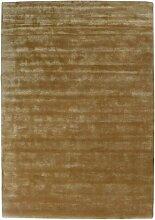 Handgefertigter Teppich Sherwen in Gold Canora Grey