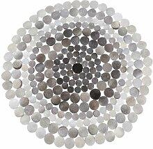Handgefertigter Teppich Tom aus Kuhfell in Grau