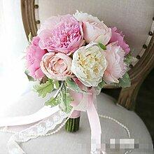 Handgemacht Bouquet Schöne Pfingstrose Blumen