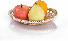 Handgemachte Bambuskorb Obstteller Obst Rattan Korb und Bambus Platte Platte Obstteller