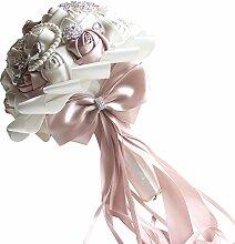 Handgemachte Brautstrauß, 22cm rosa weiße