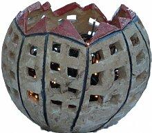 Handgemachte Gartendeko Häuser-Kugel Ø 26 cm