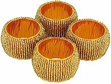 Handgemachte Indische Gold Perlen Serviettenringe