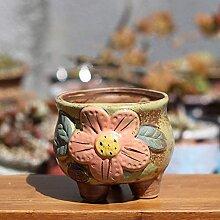 Handgemachte Keramik Blumentopf Einfache Steinzeug