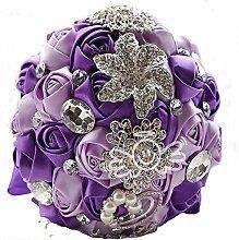 Handgemachte Luxus Seide Rose Blume Strass Perle