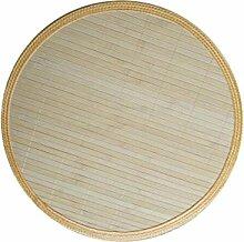 Handgemachte natürliche Bambusvorhänge Anti-hot Isolierung Pad-Round / White