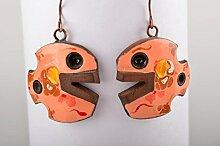 Handgemachte Ohrringe Schmuck aus Keramik Damen