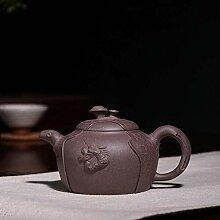 Handgemachte Purpurrote Lehm Teekanne Handgemachte
