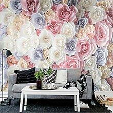 Handgemalte 3D Blumengarten Rosen