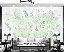 Handgemalte Blätter für Wände Wandbilder Tapete