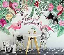 Handgemalte Flamingo Banan für Wände Wandbilder
