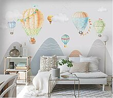 Handgemalte Kinderzimmer Heißluftballon Mountain