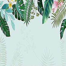 Handgemalte Pflanze Grüne Blätter Bananenblatt