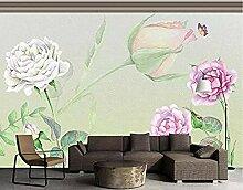 Handgemalte Rose für Wände Wandbilder Tapete