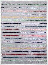 Handgetufteter Innenteppich Soft in Grau Rug Size: 140 x 200cm