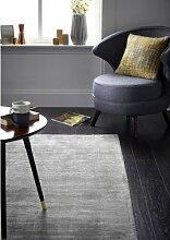 Handgetufteter Teppich Delano in Grau Canora Grey