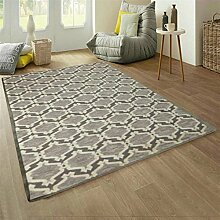Handgewebte Wolle Teppich Wohnzimmer Sofa/ einfache und modische amerikanische Schlafzimmer Bettdecke-I 160x230cm(63x91inch)