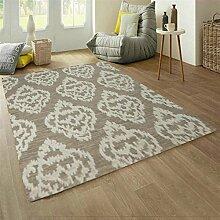 Handgewebte Wolle Teppich Wohnzimmer Sofa/ einfache und modische amerikanische Schlafzimmer Bettdecke-D 160x230cm(63x91inch)