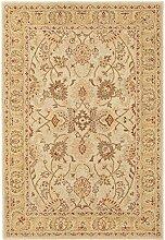 Handgewebter Teppich Agra Twist in Beige Rug Size: 80 x 150cm