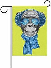 Handgezeichnete AFFE mit Schal doppelseitige