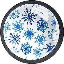 handgezeichnete aquarell schneeflocken, 4Pack ABS