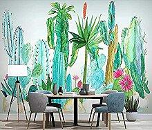 Handgezeichnete tropische Pflanze Kaktus-Blume