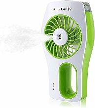 Handheld USB Zerstäuberfunktion Kühlung Fan Luftbefeuchter Öl Diffusor Mini Beauty Replenishment Fan (grün)