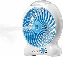 HanDingSM mini Ladekühlerlüfter tragbare kleines Ventilator USB-Desktop-schnelle Abkühlung kleine Ventilator Sprühkühlung Feuchtigkeitscreme Kleiner Fan (blau)