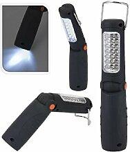 Handlampe 26LED Taschenlampe Arbeitsleuchte Stablampe Magnethalter Haken