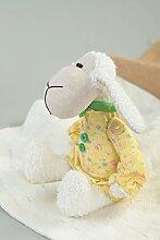 Handmade Baby Kuscheltier Pluschtier Schaf Babyzimmer Dekoration stilvoll klein