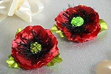 Handmade Blumen Haarspangen Geschenk fur Frauen Haarspangen mit Blume 2 Stuck