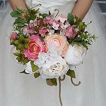 Handmade Bride 's Rosen-Blumenstrauß-Hochzeit