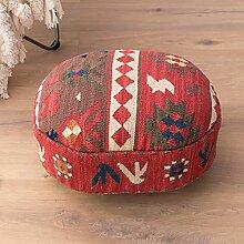 Handmade carpet fabric low hocker böhmische stil ändern schuh hocker geometric pattern creative schemel müssen montieren-G 45x35x25cm(18x14x10inch)