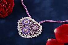 Handmade Damen Accessoire Glasperlen Anhanger kunstlerisch Geschenk fur Frauen